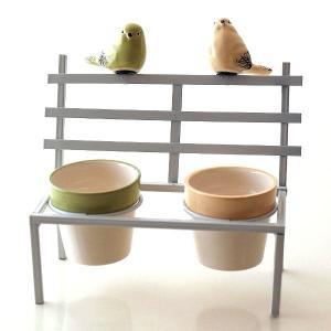 鉢カバー フラワーポット 陶器 小さい ミニ おしゃれ かわいい 多肉植物 サボテン 小物入れ インテリア 鳥 雑貨 小物収納 花台 2ポットonバードベンチ WH|gigiliving