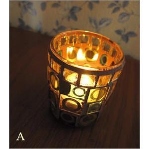 キャンドルホルダー ガラス モザイクガラスのキャンドルカップ|gigiliving|03