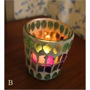 キャンドルホルダー ガラス モザイクガラスのキャンドルカップ|gigiliving|04