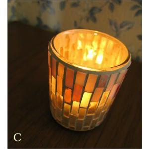 キャンドルホルダー ガラス モザイクガラスのキャンドルカップ|gigiliving|05