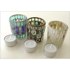 キャンドルホルダー ガラス モザイクガラスのキャンドルカップ|gigiliving|06