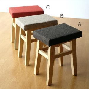 スツール ファブリック 木製 椅子 クッション かわいい おしゃれ ナチュラル 北欧 ウッドチェア クッションスツール3カラー|gigiliving