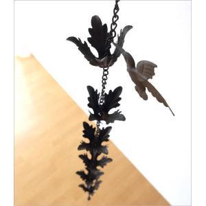 樋 雨樋 雨どい 鎖樋 レインチェーン 雨だれ あまどい ジョウロ 鳥 アイアン エクステリア 雑貨 レインチェーン ジョーロ&バード|gigiliving|03