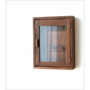 キーボックス 壁掛け 木製 インテリア おしゃれ レトロ アンティーク 鍵掛け 鍵かけ キーフック アクセサリーフック ガラス扉 ウッド壁掛ミニキーケース|gigiliving|06