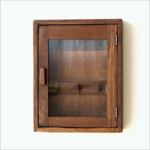 キーボックス 壁掛け 木製 インテリア おしゃれ レトロ アンティーク 鍵掛け 鍵かけ キーフック アクセサリーフック ガラス扉 ウッド壁掛ミニキーケース|gigiliving|07