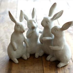 うさぎ ウサギ 置物 置き物 雑貨 インテリア オブジェ おしゃべりラビット|gigiliving