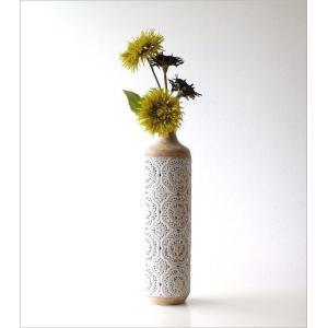 花瓶 花びん フラワーベース おしゃれ 円柱 円筒 レトロ アンティーク 花器 スチール透かし彫りビッグベース gigiliving 02