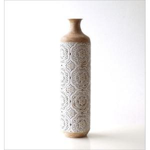 花瓶 花びん フラワーベース おしゃれ 円柱 円筒 レトロ アンティーク 花器 スチール透かし彫りビッグベース gigiliving 05