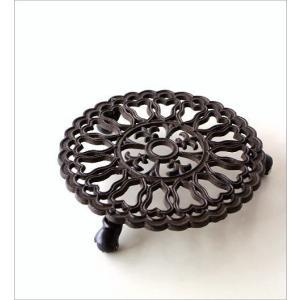 花台 鉢台 鉢スタンド 鉢置き台 フラワースタンド キャスター アイアンのプランターキャリー ラウンドケーキ|gigiliving|05
