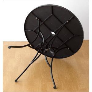 ガーデンテーブル タイル おしゃれ アイアン 鉄 円形 丸型 丸テーブル お庭 エクステリア ベランダ テラス ガーデンテーブル モザイクフラワー|gigiliving|05