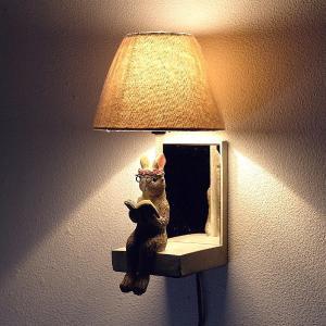 照明 壁掛け ライト シェードランプ 雑貨 野うさぎ壁掛ランプ|gigiliving