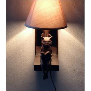 照明 壁掛け ライト シェードランプ 雑貨 壁掛けネコランプ|gigiliving|02