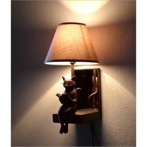 照明 壁掛け ライト シェードランプ 雑貨 壁掛けネコランプ|gigiliving|07