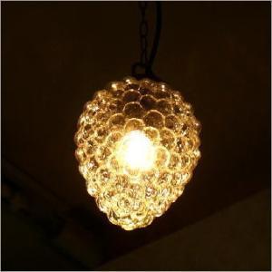 ペンダントライト ガラス アンティーク LED対応 おしゃれ ペンダント照明 北欧 レトロ モダン キッチン ダイニング 葡萄 クリアーなグレープのペンダントライト|gigiliving