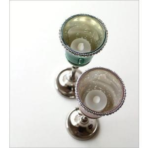 キャンドルホルダー ガラス LEDキャンドル付き 花瓶 花びん クリスタルベース 2カラー|gigiliving|03