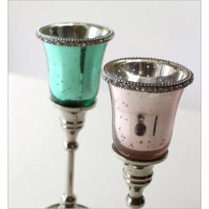 キャンドルホルダー ガラス LEDキャンドル付き 花瓶 花びん クリスタルベース 2カラー|gigiliving|04