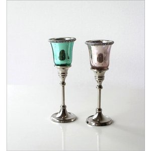 キャンドルホルダー ガラス LEDキャンドル付き 花瓶 花びん クリスタルベース 2カラー|gigiliving|05