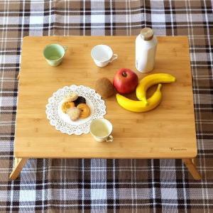 折りたたみテーブル バンブー 竹製 おしゃれ ローテーブル コンパクトテーブル ミニテーブル キャンプ ピクニック シンプル 折り畳みバンブーテーブル L|gigiliving