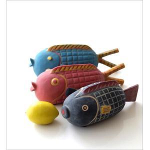 置物 オブジェ 魚 アフリカ インテリア おしゃれ テラコッタ 素焼き 陶器 アフリカンオブジェ フィッシュ3タイプ|gigiliving|02