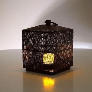 LED付きアイアンビッグランタン gigiliving