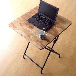 コンパクトテーブル 木製 60×60cm リビングテーブル コーヒーテーブル アイアンとウッドの折りたたみテーブル|gigiliving