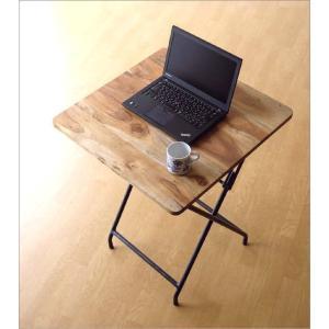 コンパクトテーブル 木製 60×60cm リビングテーブル コーヒーテーブル アイアンとウッドの折りたたみテーブル gigiliving 02