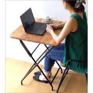 コンパクトテーブル 木製 60×60cm リビングテーブル コーヒーテーブル アイアンとウッドの折りたたみテーブル gigiliving 06