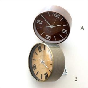 目覚まし時計 おしゃれ アナログ モダン レトロ 置時計 置き時計 丸 スイープムーブメント 静音 連続秒針 インテリア 小さい 小型 目覚ましシンプル時計2カラー|gigiliving