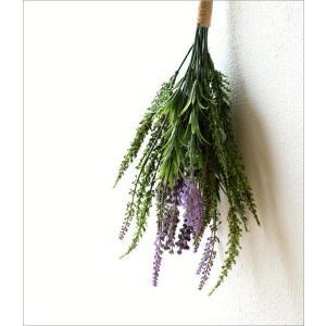 フェイクグリーン 壁掛け スワッグ 造花 インテリア 人工観葉植物 花 壁面 壁 玄関 おしゃれ リビング ウォールデコ フェイクラベンダースワッグ|gigiliving|02