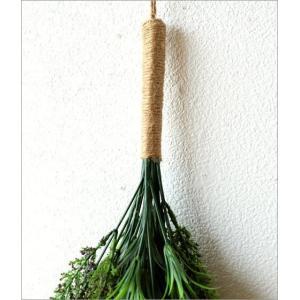 フェイクグリーン 壁掛け スワッグ 造花 インテリア 人工観葉植物 花 壁面 壁 玄関 おしゃれ リビング ウォールデコ フェイクラベンダースワッグ|gigiliving|03