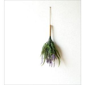 フェイクグリーン 壁掛け スワッグ 造花 インテリア 人工観葉植物 花 壁面 壁 玄関 おしゃれ リビング ウォールデコ フェイクラベンダースワッグ|gigiliving|05