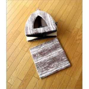 ペットハウス ドーム型 室内 犬 猫 家 おしゃれ かわいい あったか クッション 木目調 ふんわりペットドーム|gigiliving|04