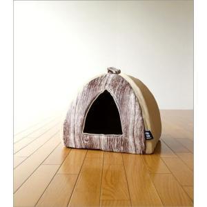 ペットハウス ドーム型 室内 犬 猫 家 おしゃれ かわいい あったか クッション 木目調 ふんわりペットドーム|gigiliving|06