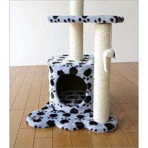 キャットタワー 据え置き型 おしゃれ 猫 ねこ ネコ おもちゃ 猫タワー ミニ 小型 爪とぎ インテリア キャットトンネル キャットツリー ブルー|gigiliving|03