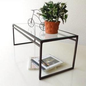ガラス棚 ディスプレイスタンド シェルフ 飾り棚 飾棚 アイアンとガラスのシンプル棚 A|gigiliving
