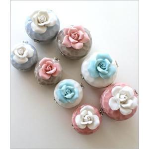 アクセサリーケース 収納 かわいい バラ 薔薇 小物入れ ローズミニボックス 2サイズセット|gigiliving|03