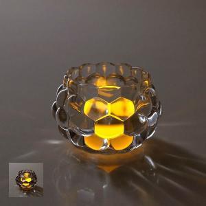 キャンドルホルダー ガラス おしゃれ 花瓶 花びん フラワーベース LED付きキャンドルホルダー2カラー|gigiliving