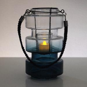 キャンドルホルダー ガラス 花瓶 おしゃれ フラワーベース コンケープLEDキャンドル&ガラスベース gigiliving