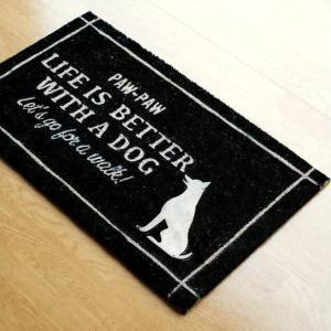玄関マット 屋外 おしゃれ コイヤーマット ココヤシ ドアマット 犬 イヌ いぬ ココマット コイヤーエントランスマット ドッグの写真