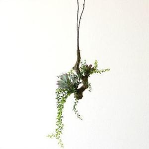 フェイクグリーン ハンギング 吊るす インテリア おしゃれ 人工観葉植物 ハンギング フェイクブランチA|gigiliving