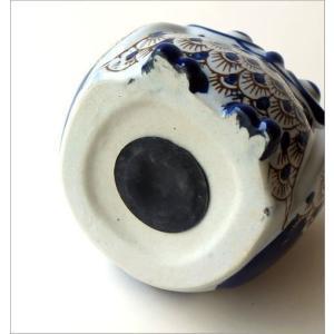 貯金箱 陶器 ふくろう フクロウ 和風 かわいい インテリア 玄関 梟 置物 雑貨 グッズ オブジェ 陶器のフクロウ貯金箱 M|gigiliving|05