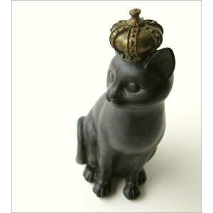 猫 ネコ ねこ 雑貨 置物 置き物 インテリアオブジェ アジアン雑貨 プリンセス立ちポーズ子ネコ|gigiliving|02