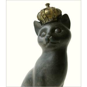 猫 ネコ ねこ 雑貨 置物 置き物 インテリアオブジェ アジアン雑貨 プリンセス立ちポーズ子ネコ|gigiliving|03