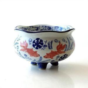 金魚鉢 おしゃれ 陶器 メダカ鉢 和風 レトロ アンティーク ビオトープ インテリア 陶器の金魚鉢