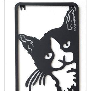 壁飾り アイアン ネコ 猫 雑貨 壁掛け インテリア ウォールデコ かわいい おしゃれ ユニーク 壁面 ディスプレイ アイアンの壁飾り のぞきネコ|gigiliving|02