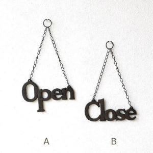 OPEN / CLOSE オープン クローズ 文字飾り カフェ インテリア おしゃれ 壁飾り ドア ...
