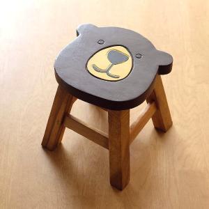 スツール 木製 子供 椅子 おしゃれ ミニスツール 小さい ウッドスツール 丸椅子 子供用 イス かわいい 無垢材 花台 ミニテーブル クマ 子供イス ベアー|gigiliving