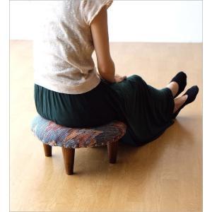 スツール おしゃれ クッション 低い ロータイプ 子供 椅子 丸い 丸形 円形 ローチェア オットマン 足載せ 布張り 生地 かわいい 可愛い ロースツール ラウンド|gigiliving|03