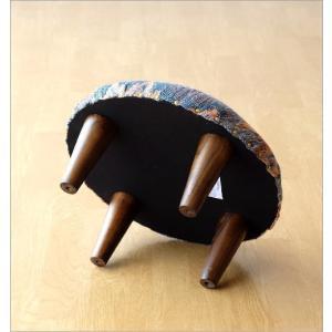 スツール おしゃれ クッション 低い ロータイプ 子供 椅子 丸い 丸形 円形 ローチェア オットマン 足載せ 布張り 生地 かわいい 可愛い ロースツール ラウンド|gigiliving|06