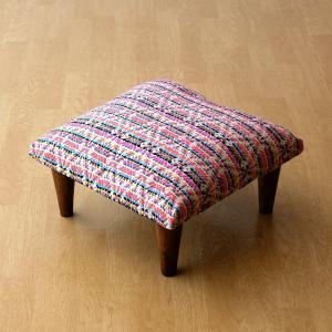 スツール おしゃれ クッション 低い ロータイプ 子供 椅子 ローチェア オットマン 足載せ 布張り 生地 かわいい 可愛い 四角 正方形 ロースツール スクエア|gigiliving